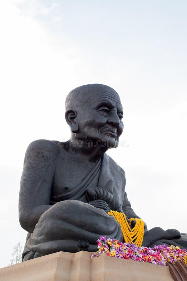 HUA HIN THAILAND - Apr27, 2015: Staty av Luang Pu Thuat arkivbilder