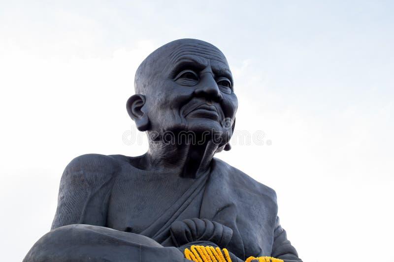 HUA HIN THAILAND - Apr27, 2015: Staty av Luang Pu Thuat arkivbild