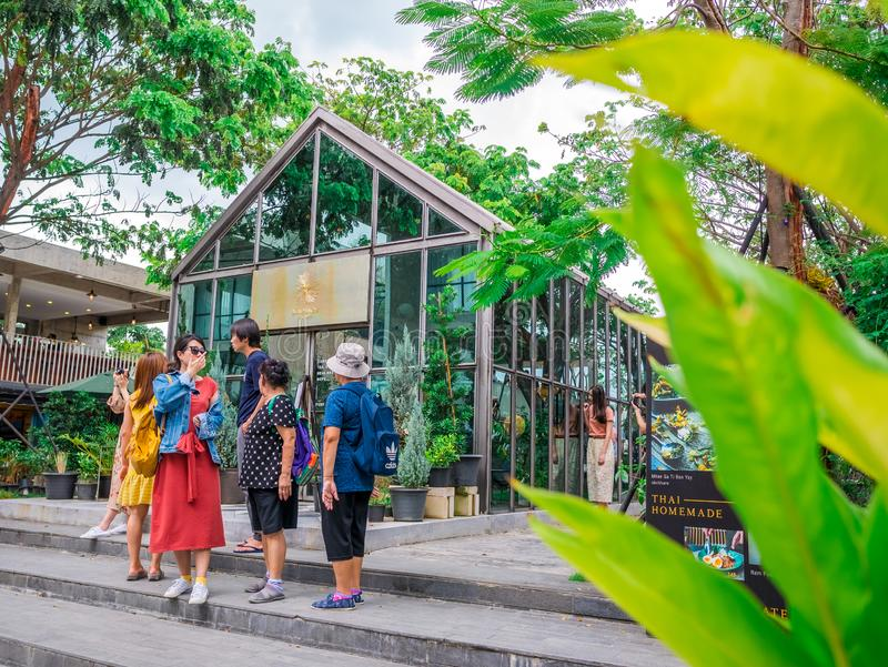 HUA HIN, THAILAND - JUNE 24, 2018: Seenspace Huahin is a life style community mall eating and shopping relax beautiful place. HUA HIN, THAILAND - JUNE 24, 2018 royalty free stock image