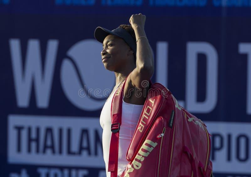 Hua Jan 1: Świat Żadny 7 Venus Williams gracz w tenisa usa wewnątrz zdjęcie stock