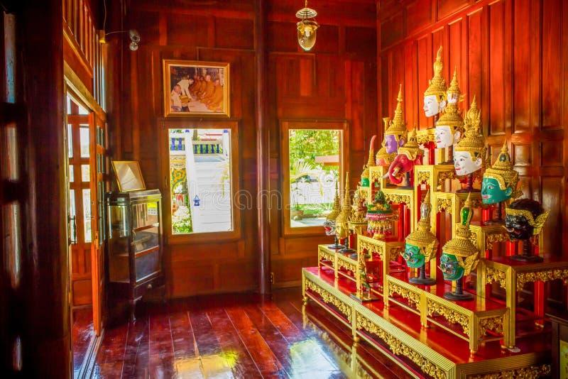 Hua Khon (masque traditionnel thaïlandais) utilisé dans Khon - danse traditionnelle thaïlandaise photos stock
