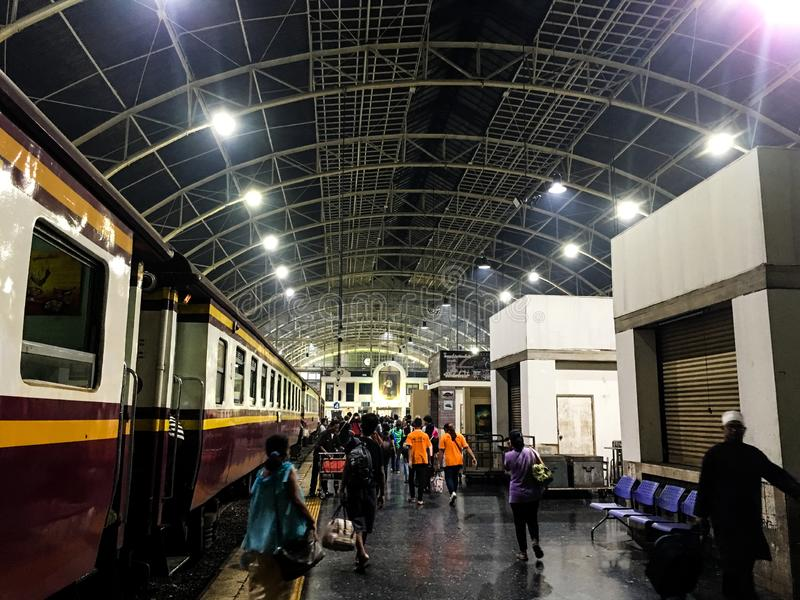 Hua Lamphong Bangkok Railway Station royalty-vrije stock afbeeldingen