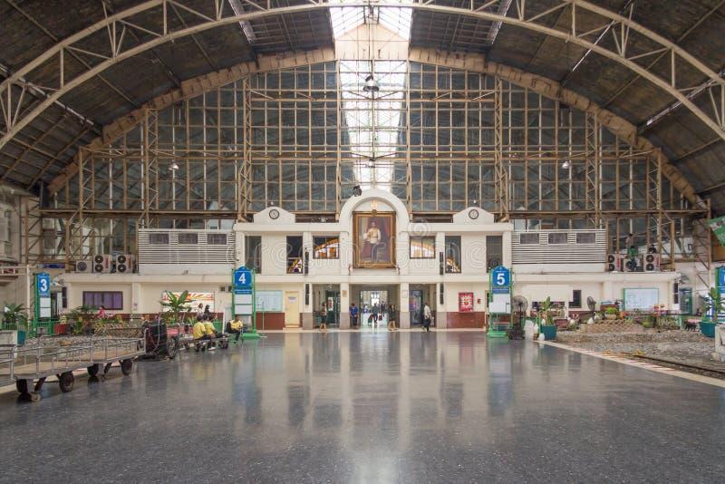 Hua Lampong staci kolejowej magistrali sala zdjęcia stock