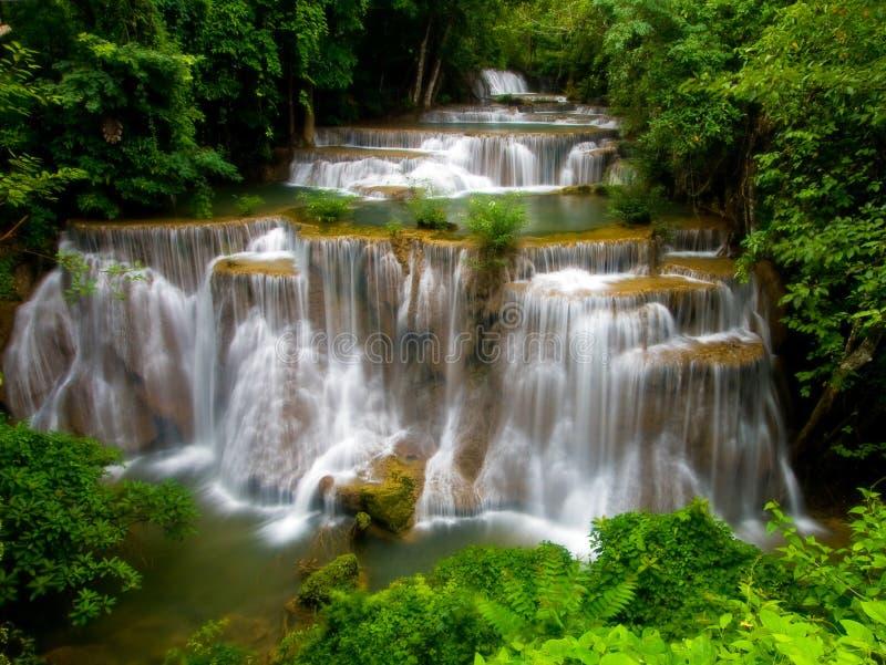 Hua Mae Khamin, de Waterval van het Paradijs royalty-vrije stock afbeelding