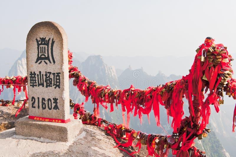hua porcelanowy wysoki szczyt huashan halny zdjęcia stock