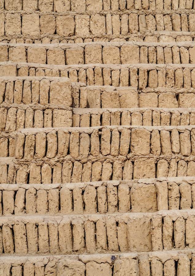 Huaca Pucllana em Lima, Peru imagem de stock