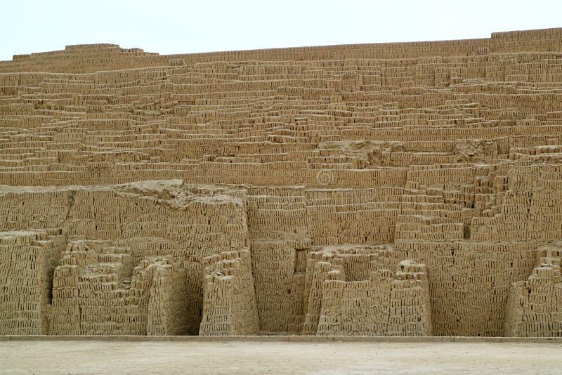 Huaca Pucllana, las ruinas pre de Inca Ceremonial y sitio administrativo en el distrito de Miraflores, Lima, Perú imagen de archivo libre de regalías