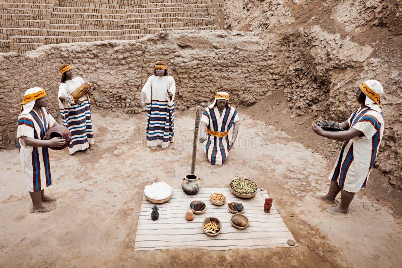Huaca Pucllana, Lima imagenes de archivo
