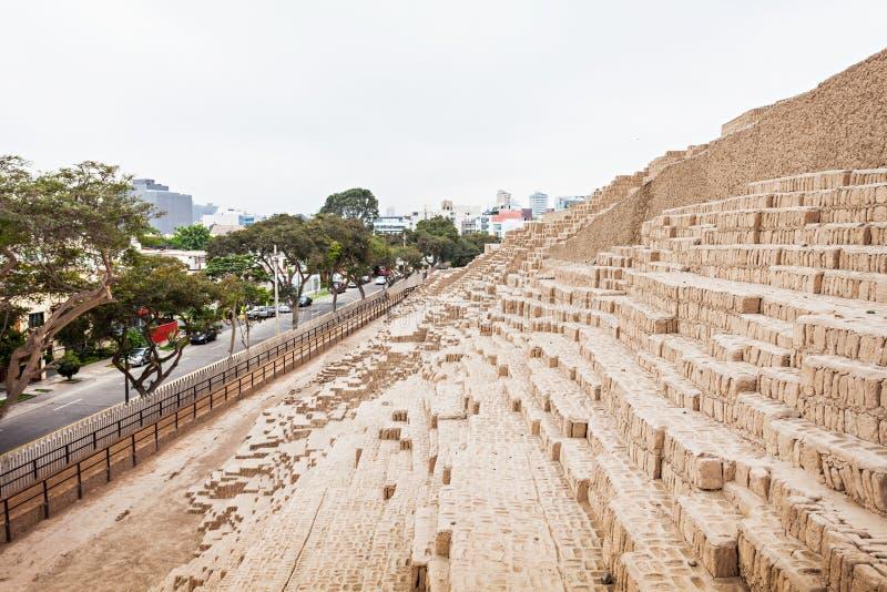 Huaca Pucllana, Lima obraz stock