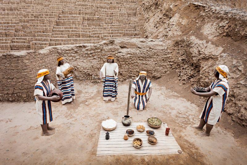 Huaca Pucllana, Lima imágenes de archivo libres de regalías