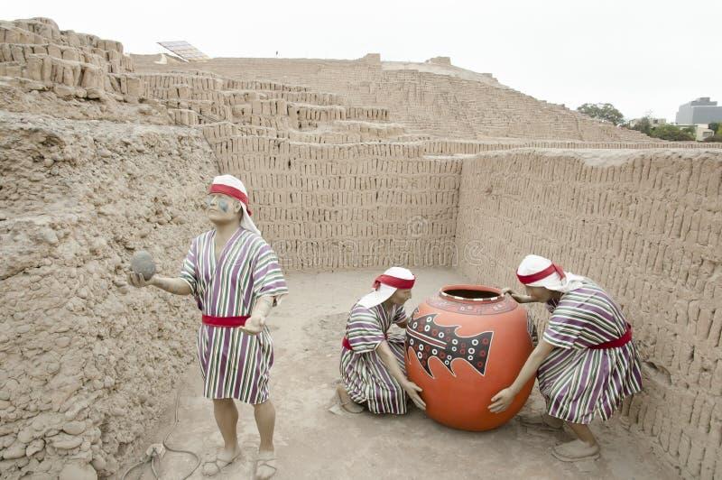 Huaca Pucllana - Lima - Peru fotos de stock
