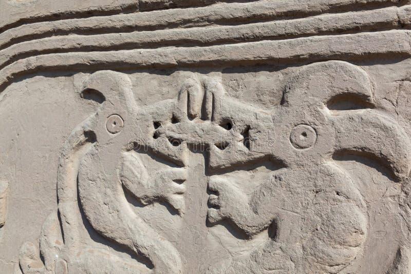Huaca of Tempel van de Draak of de Regenboog stock foto's