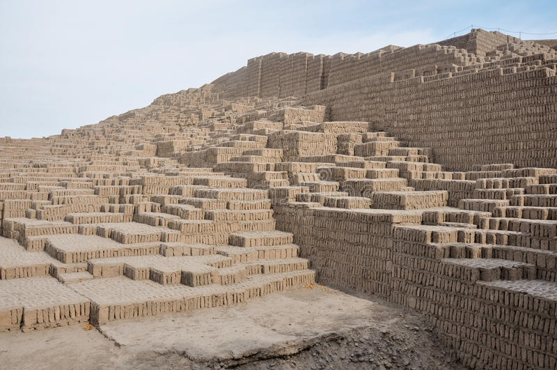 Huaca w Miraflores, Lima, Peru zdjęcie royalty free