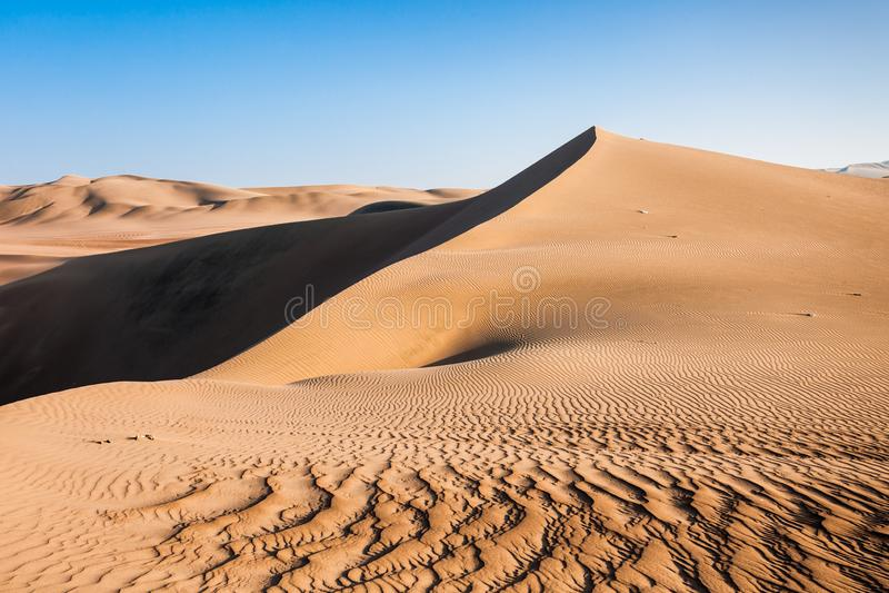 Huacachina沙漠沙丘 库存图片