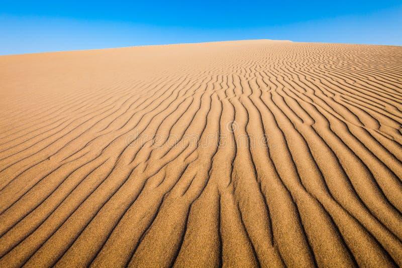 Huacachina沙漠沙丘 免版税库存照片