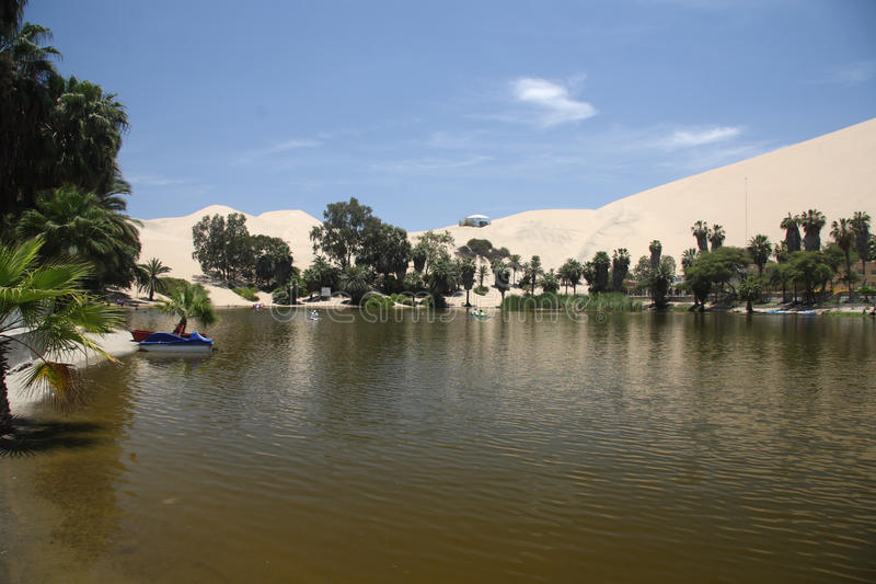 Huacachina Oasis royalty free stock photo