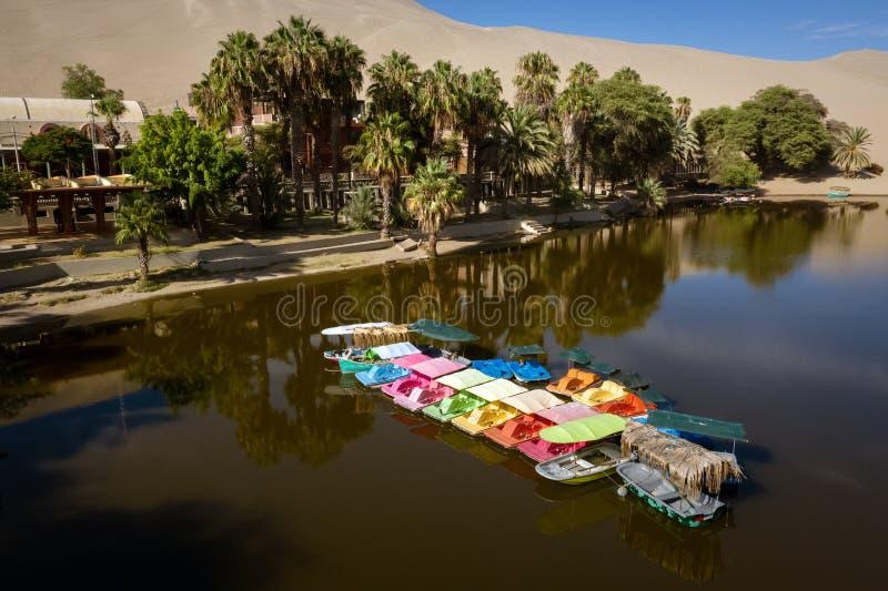 Huacachina oaza w Ica, Peru obrazy royalty free