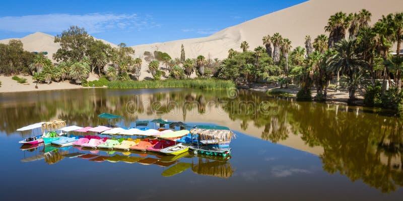Huacachina oaza w Ica, Peru zdjęcia royalty free