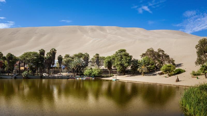 Huacachina oaza w Ica, Peru zdjęcie stock