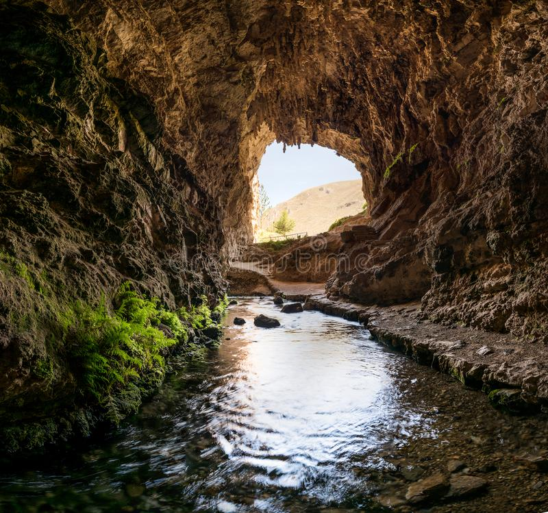 Huagapo洞在Tarma,秘鲁 免版税库存图片