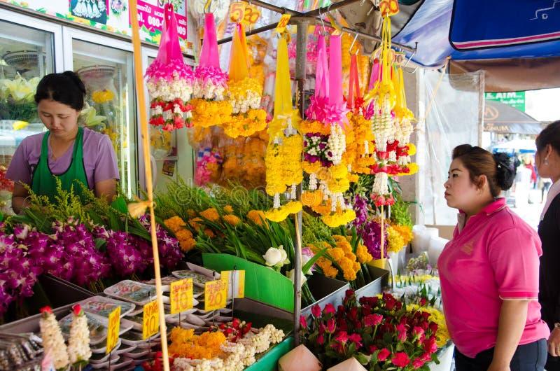 HUAHIN, Таиланд: Местный цветочный магазин стоковые фото