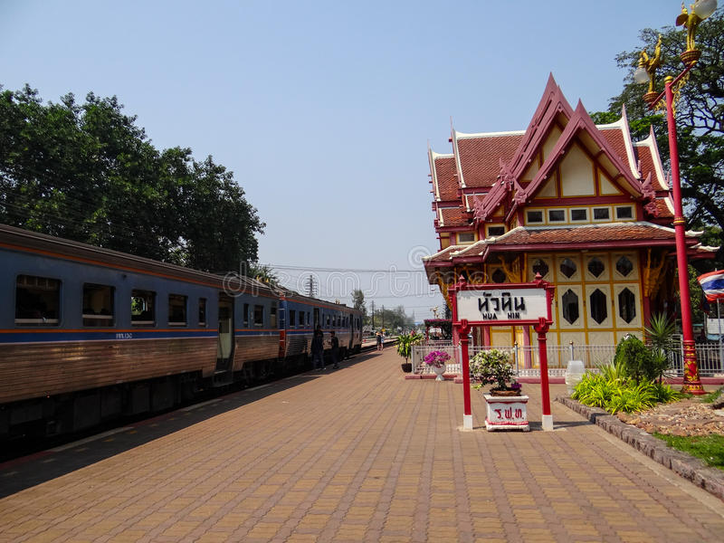 Huahin-Bahnhof lizenzfreie stockfotografie