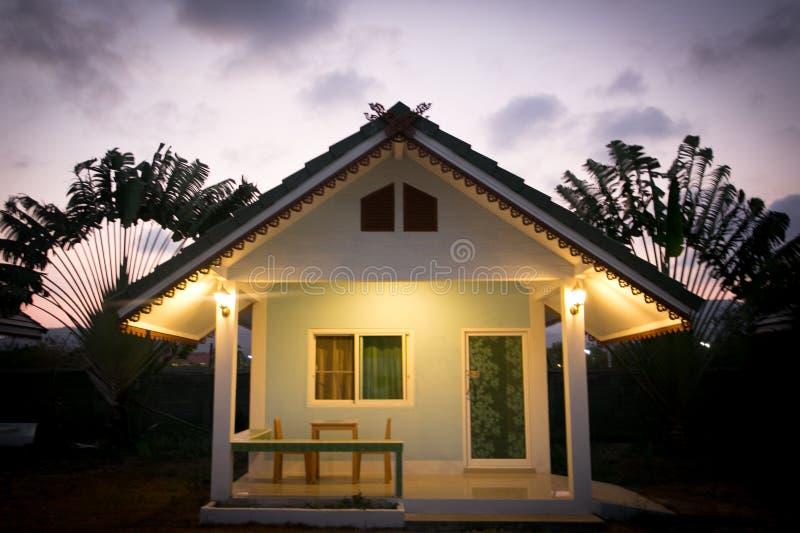 Huahin, Tajlandia, Marzec 3 2017 Domowy kurort - obraz stock