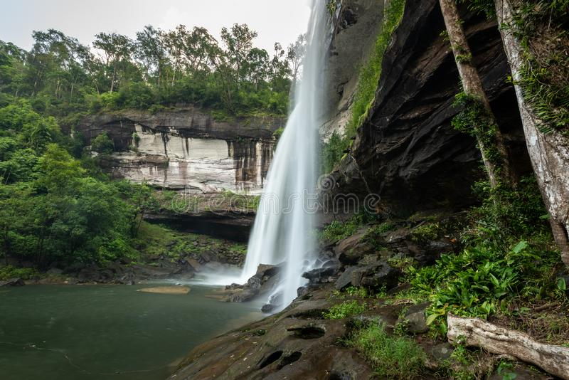Huai Luang Waterfall parco nazionale del Na YOI al †di PhuChong «, Ubonratchathani Tailandia immagine stock libera da diritti