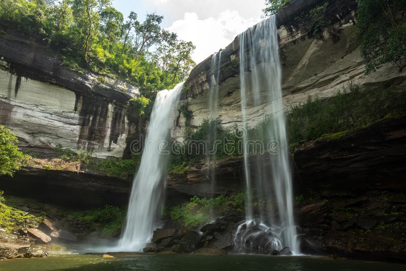 Huai Luang Waterfall parco nazionale del Na YOI al †di PhuChong «, Ubonratchathani Tailandia fotografia stock