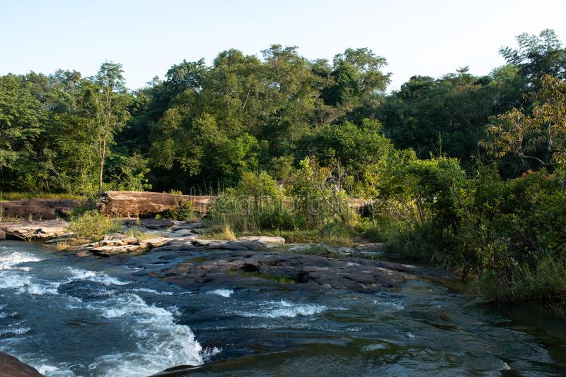 Huai Luang Waterfall parco nazionale del Na YOI al †di PhuChong «, Ubonratchathani Tailandia fotografie stock