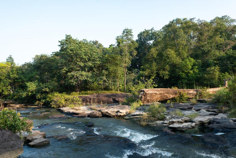 Huai Luang Waterfall parco nazionale del Na YOI al †di PhuChong «, Ubonratchathani Tailandia immagini stock libere da diritti