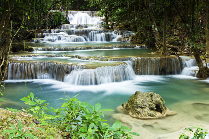 Huai mae kamin waterfalls royalty free stock images