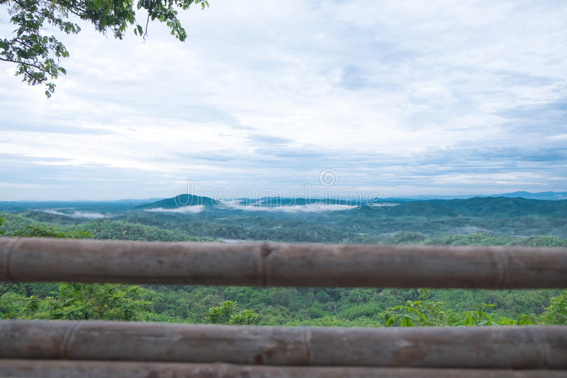 Huai Ton Hi Viewpoint, Verbodsna Ton Chan Thailand stock foto's