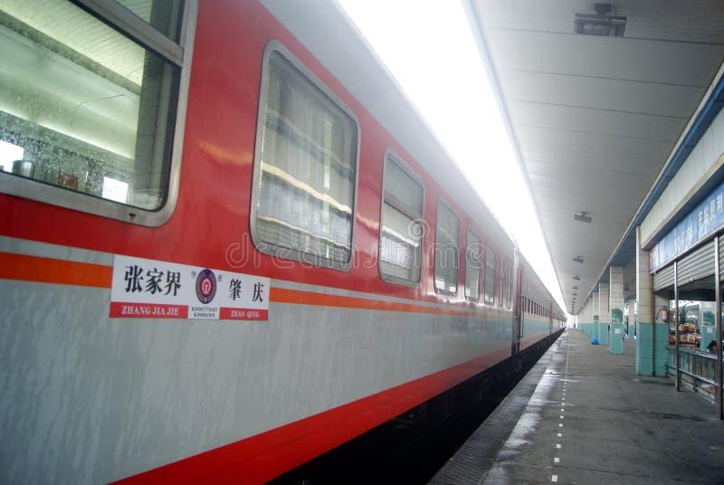 Huaihua, Chiny: dworzec fotografia royalty free