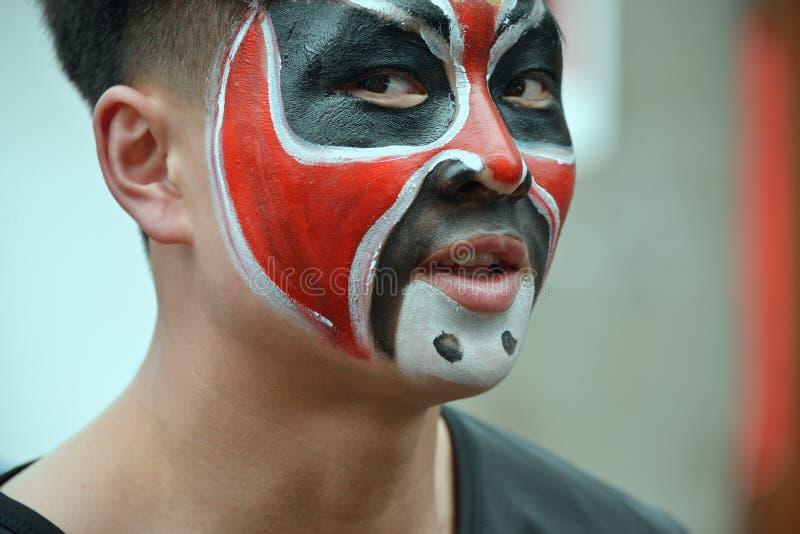 Hualian Drgon, peinture de visage photographie stock libre de droits