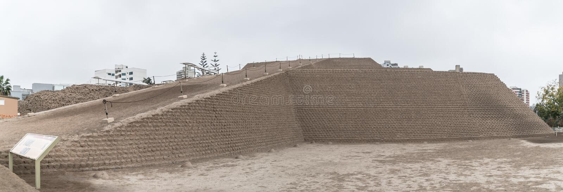 Huallamarca, la pyramide d'Inca dans le ` de Lima s Huaca, Pérou images libres de droits