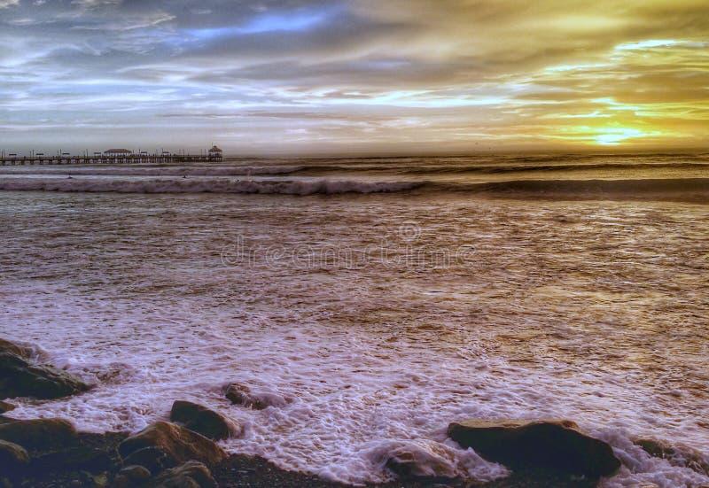 huanchaco Perú de la playa fotos de archivo libres de regalías