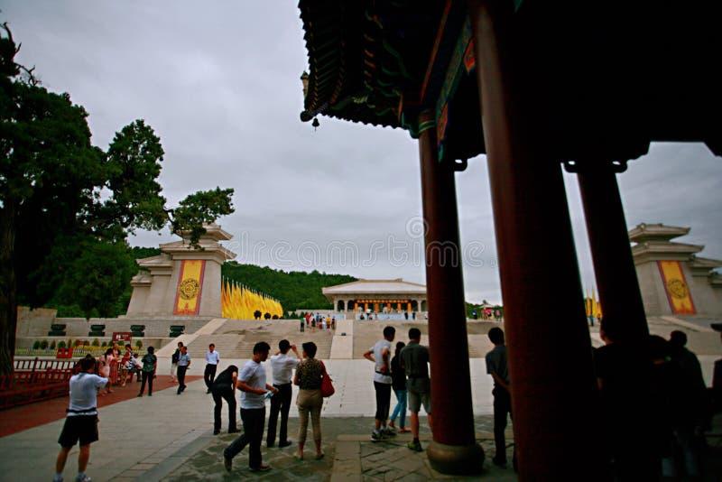 Huang Di Mausoleum stockbilder