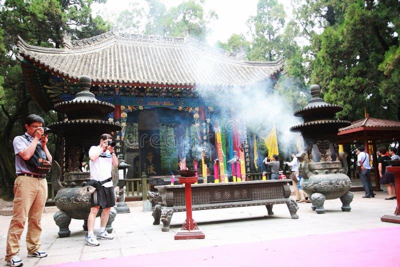 Huang Di Mausoleum stockfotografie