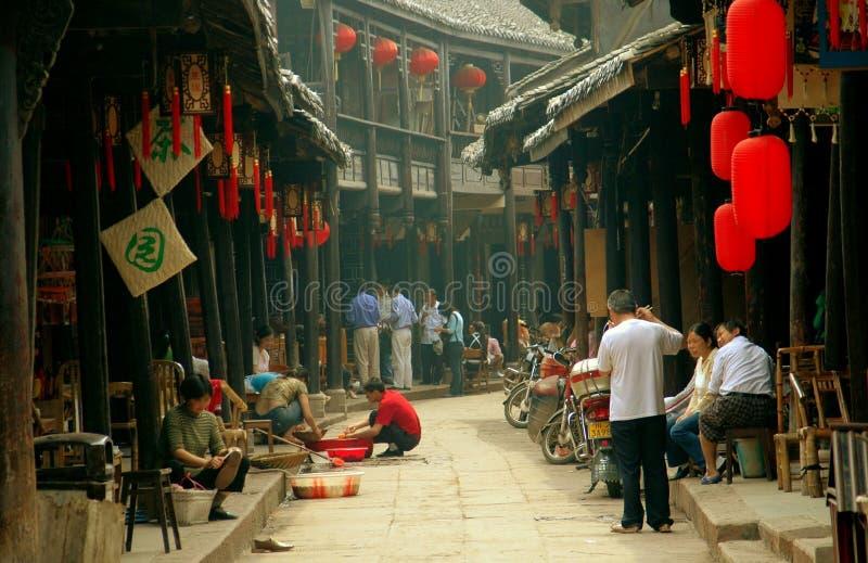 Huang por muito tempo Xi, China: Casas velhas históricas fotografia de stock royalty free