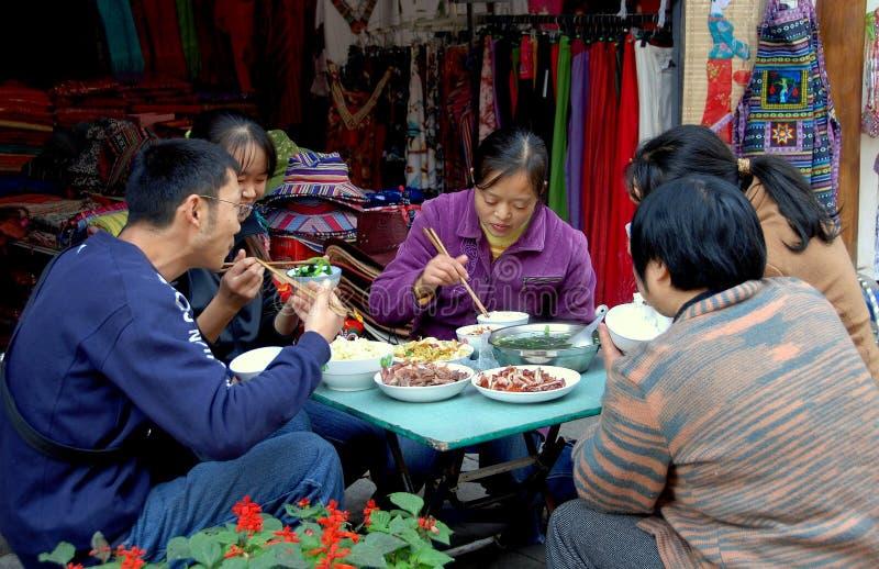 Huang por muito tempo Xi, China: Jantar da família foto de stock royalty free