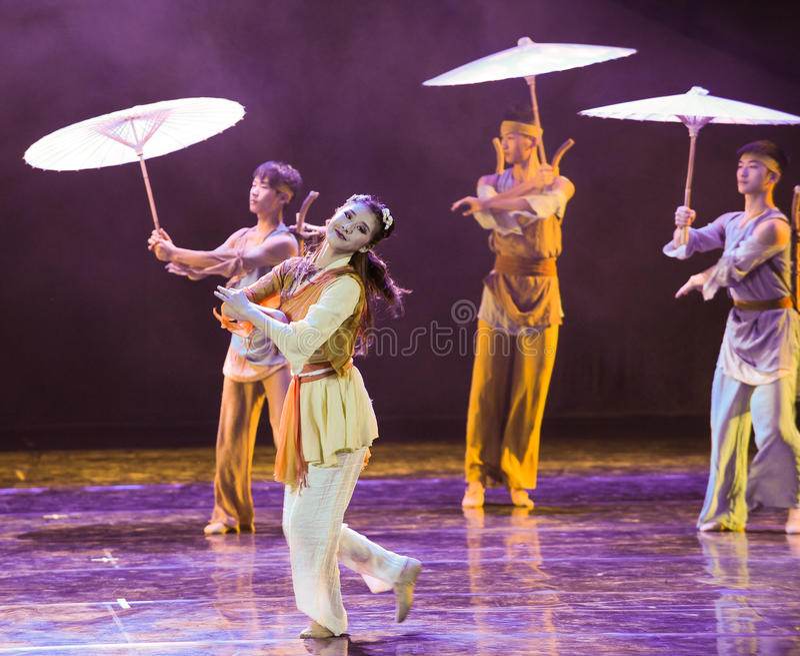 Huang Rong martial het kunst-dansdrama de legende van de Condorhelden royalty-vrije stock afbeeldingen