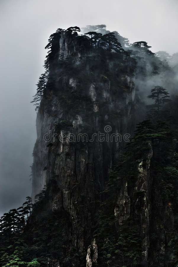 Huang Shan, feng de xin do shi imagem de stock royalty free