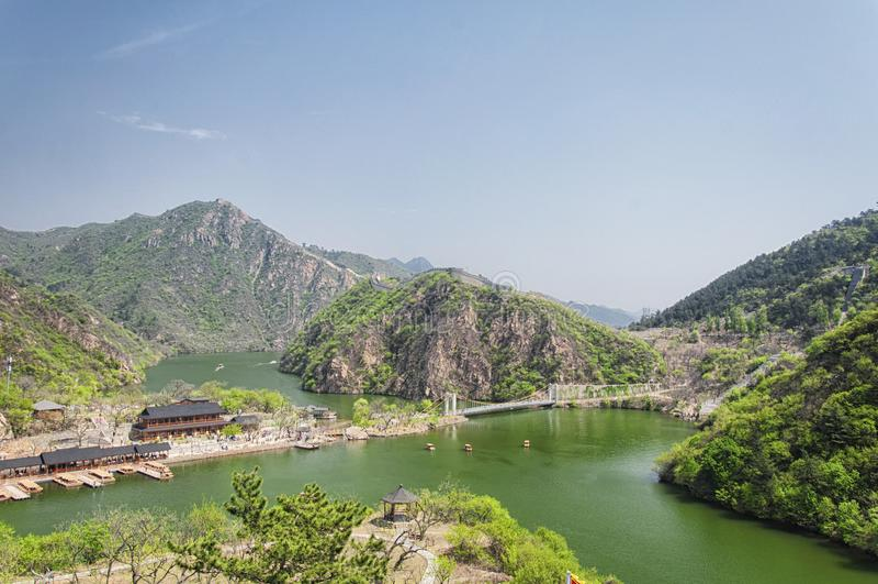 Huanghua Cheng или lakeside великая стена china beijing стоковое фото rf