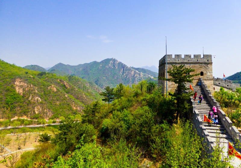 Huanghuacheng长城烽火台塔 免版税图库摄影