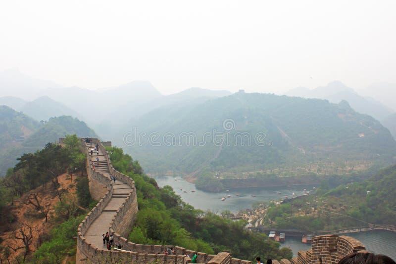 Huanghuacheng Grote Muur royalty-vrije stock afbeelding