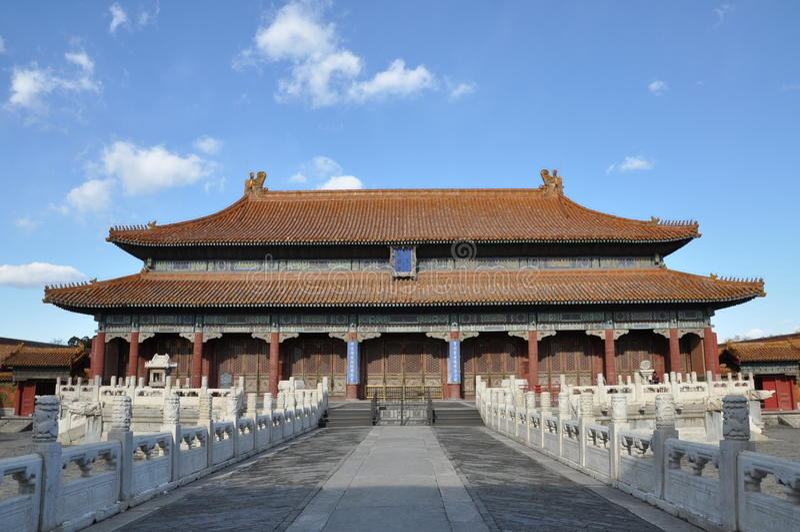 Huangji Hall i Forbiddenet City fotografering för bildbyråer