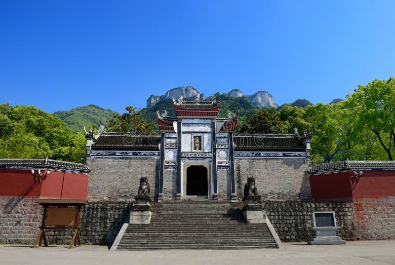 Huangling tempel arkivbild