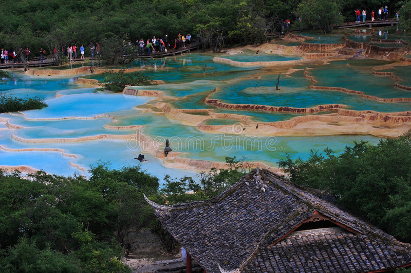 Huanglong Scenic Area royalty free stock photos