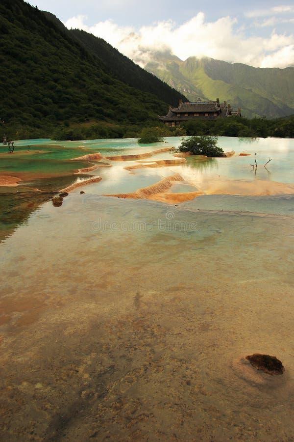 huanglong sceniczny obszaru zdjęcie royalty free